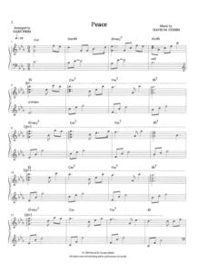 Combs Music Peace Sheet Music