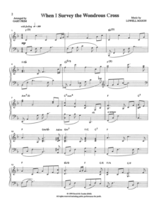 Combs Music When I Survey The Wondrous Cross Sheet Music