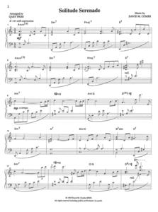 Combs Music Solitude Serenade Sheet Music